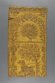 Woven Textile Geography: Made in Italy, Europe Date: 16th century Medium: Silk and linen compound satin Accession Number: 1924-34-285