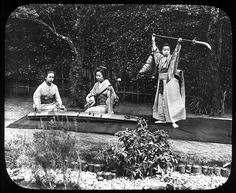 "Girls dancing and playing the Samisen and Koto from ""Nipon: A Japanese Life and Scenery; a reading descriptive of a series of lantern slides"", 1889"