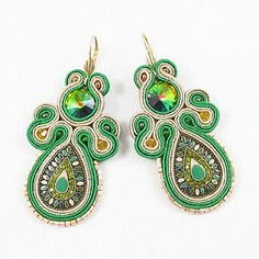 soutache earrings - iguana colombia