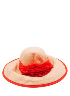 oversized rosette floppy hat