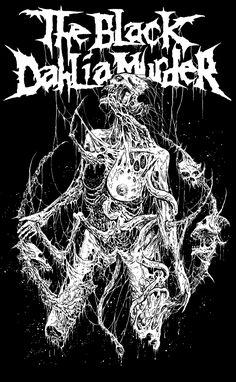 Metal Band Logos, Rock Band Logos, Heavy Metal Art, Heavy Metal Bands, Music Artwork, Metal Artwork, Thrash Metal, The Black Dahlia Murder, Metallica Art
