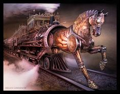 The Knight Train  Art Print by Brian Giberson by indigolights, $20.00