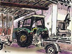#176 Waar mijn zoons zich vergaapten aan de tractor.