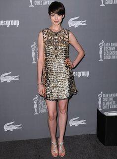 No Costume Designers Guild Awards, Anne Hathway usou vestido curto da Gucci JORDAN STRAUSS / JORDAN STRAUSS/INVISION/AP