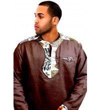 Zhaire, Zaire African print men's Ethnic African top shirt clothing