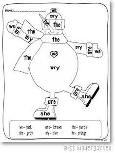 color by sight word/math/numbers Kindergarten Language Arts, Kindergarten Literacy, Preschool, Literacy Centers, Sight Word Practice, Sight Words, School Fun, School Stuff, School Ideas