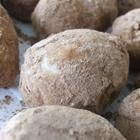 Irish Potato Candy: 1/4 c butter, 8 oz cream cheese, 1 t vanilla, 4 c powdered sugar, 2 1/2 c coconut, 1 t cinnamon.--In med bowl, beat butter & cream cheese. Add vanilla and pwrd sugar, beat till smooth. Mix in coconut. Roll into balls. Roll in cinnamon. Place on cookie sheet & chill.
