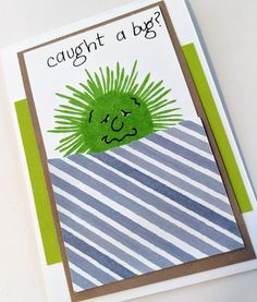 Overthinking the Sunflower Sympathy stamp set from CTMH | MaryGunnFunn.com  Get well stamped card