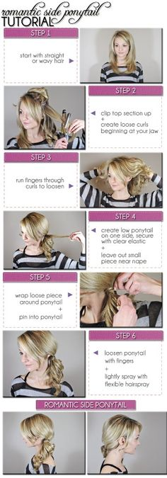 Romantic Side Ponytail (perfect for Valentine's Day!) #hair #tutorial #beauty