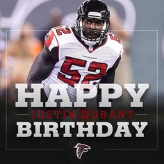 A team-high 10 tackles yesterday, 30 candles today. Happy birthday, @j.durant! #RiseUp #Falcons