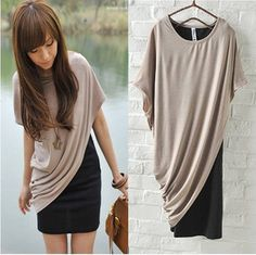 Dresses :: Sleeveless :: Spring new Korean women's sweet 896085 leisure oblique piece T shirt - try to DIY