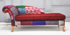 Patchwork chaise lounge - Indian Kanta Quilt