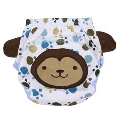 Baby Infants Breathable Diaper Soft Cotton Pants Baby Reusable Nappy Cartoon Washable Diaper