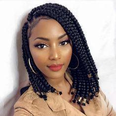 Short Hair Braids Easy, Box Braids Hairstyles For Black Women, Braids Hairstyles Pictures, Twist Braid Hairstyles, Braids For Black Women, African Braids Hairstyles, Braids For Black Hair, Bob Braids, Twist Braids