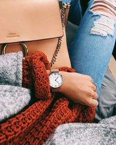 Super cute fall outfit, stylish but also casual Fall Winter Outfits, Winter Wear, Autumn Winter Fashion, Fall Fashion, Style Fashion, Chloe Bag, Faye Bag, Mode Style, Style Me