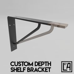 Industrial Steel Shelf Bracket No.2 | Customisable Depth