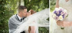 Lake Mary Events Wedding - Corner House Photography - Orlando Wedding Photographer- newlyweds kissing with veil blowing in the wind