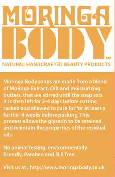 Moringa BODY Natural Handcrafted Beauty Products