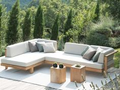 Tribu Pure Corner Garden Sofa Teak Warehouse's Cabo Daybed looks just like the Tribu Pure Corner Gar Outdoor Lounge, Outdoor Seating, Outdoor Spaces, Outdoor Living, Outdoor Decor, Outdoor Sofas, Outdoor Cushions, Corner Sofa Outdoor, Scatter Cushions