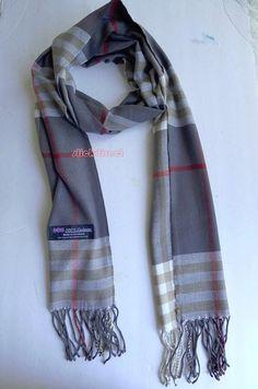 Unisex Women Men Scarves Scarf 100 Cashmere Plaid Check Scotland Gray