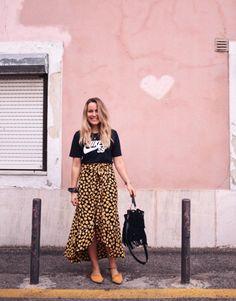 Ganni street style | Emily Salomon | Emory Crepe Wrap Skirt