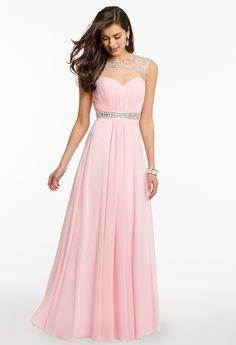 Beaded Yoke Ruched Dress