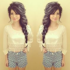 Tossled side braid.