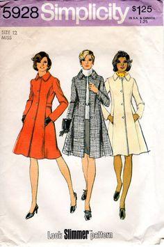 1970s Slim Princess Coat  Vintage Pattern by ErikawithaK on Etsy