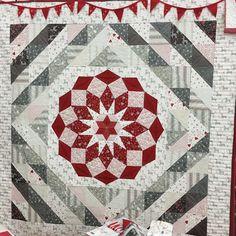 Winterrose quilt by Wenche Wolff Hatling – pronounced Ven-ka.  Moda Fabrics blog.