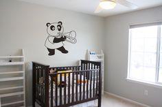 Wall Vinyl Sticker Decals Mural Room Design Pattern Art  Nursery Panda Bear Music  bo1624 by RoomDecalsAndDesigns on Etsy