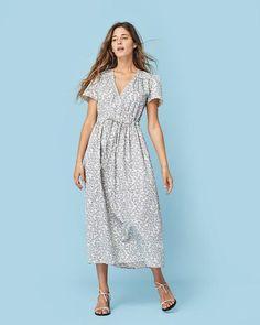 The Dawn Dress | Cream and Blue Floral – Christy Dawn