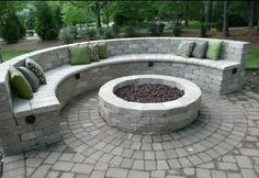 Firepit with seating