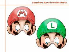 Unique Hero Mario Printable Masksbirthdayphoto by AmazingPartyShop