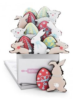easter family tin from biscuiteers - delicious hand iced biccies to order on line - say it with icing