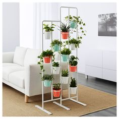 IKEA - SOCKER, Plant stand, A plant stand makes it possible to decorate with plants everywhere in the home.The plant stand can be used to display plants indoors or outdoors on a balcony or as a unique room divider. Modern Plant Stand, Diy Plant Stand, Plant Stands, Metal Plant Stand, Indoor Plant Shelves, Indoor Plants, Ikea Socker, Ikea Plants, Decoration Plante