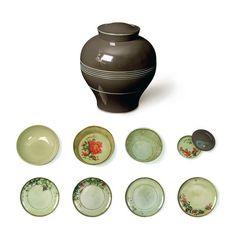 ibride - Faux Semblants - Set of 4 Bowls and 4 Plates - Grey Yuan