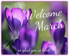 Welcome March!