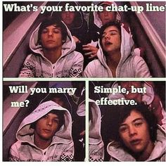 one direction pick up line. From the X Factor days :) One Direction Humor, One Direction Louis, One Direction Imagines, 1d Imagines, Larry Stylinson, Louis Tomlinson, Louis And Harry, 1d And 5sos, Cool Bands
