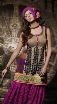 Dazzling Purple Salwar Kameez