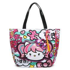 NEW Loungefly Hello Kitty Anime Japanimation Turquoise Striped Shopper Tote Bag | Ropa, calzado y accesorios, Carteras y bolsos de mujer, Carteras y bolsos de mano | eBay!