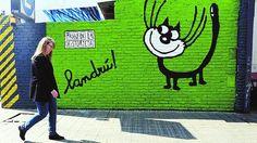 El gato de Landrú en un mural del Paseo de la Historieta, San Telmo, Buenos Aires, Argentina.