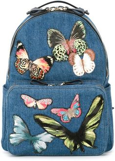 Valentino Garavani medium butterfly embroidered backpack