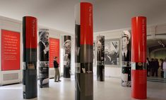 Columns, New York's Moynihan, Museum of the City of New York, Pentagram Exhibition Stand Design, Exhibition Display, Exhibition Space, Wayfinding Signage, Signage Design, Display Design, Booth Design, Pillar Design, Public Architecture