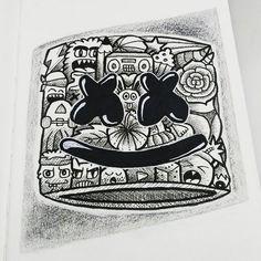 My Doodle, Doodle Drawings, Ink Art, Artworks, Graffiti, Doodles, Skull, Illustration, Instagram