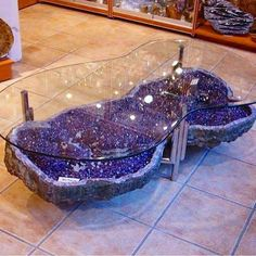 Love this geode table