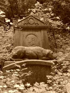 Highgate Cemetery This commemorates the loving devotion of a dog to its owner. We have had the good fortune to have such dogs too, may they rest in peace. Cemetery Angels, Pet Cemetery, Cemetery Statues, Cemetery Headstones, Old Cemeteries, Graveyards, Jean Giraudoux, Unusual Headstones, Highgate Cemetery