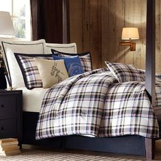 Big Sky Plaid Comforter Bedding by Woolrich