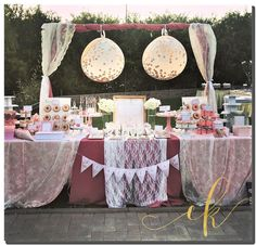 A gorgeous set up for a beautiful baby girl's baptism. Baby Girl Baptism, Beautiful Baby Girl, Dessert Tables, Cookie Jars, Party Ideas, Table Decorations, Photo And Video, Desserts, Instagram