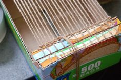 The best instructions for making a cardboard loom and how to use..