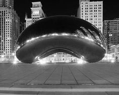 chicago bean art black and white - Google Search